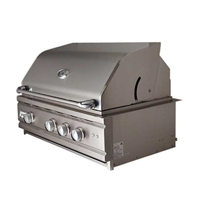 "RCS 30"" Cutlass Pro Series Built-in Propane Gas Grill with Blue LED and Rear Burner RON30A-LP"