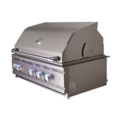 "RCS 30"" Cutlass Pro Series Built-in Natural Gas Grill Blue LED with Rear Burner RON30A"