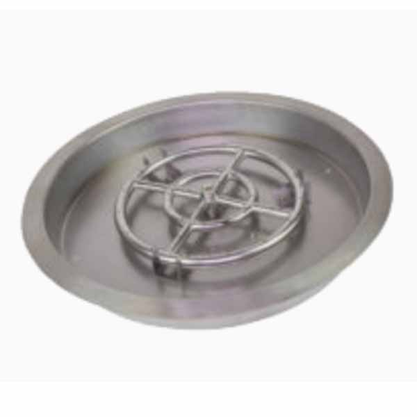"Athena 25"" Round Drop-in Pan Stainless w/ 18"" Burner DIP-RD-25"