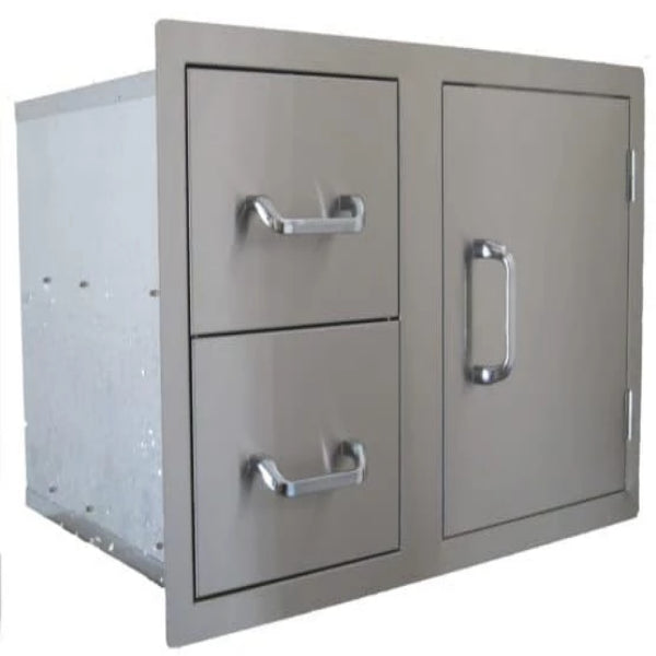 Beefeater Dual Drawer & Single Door Combination Stainless Steel -24230