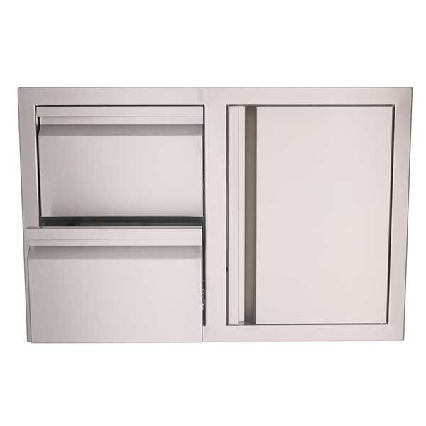 "RCS Valiant Series 33"" Stainless Steel Access Door & Double Drawer Combo VDC1"