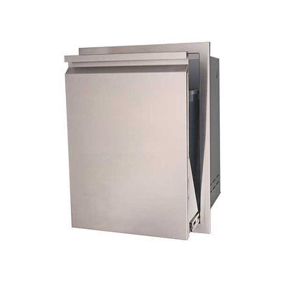 "RCS Valiant Series 20"" Roll-out Stainless Steel Trash / Recycling Bin VTD1"