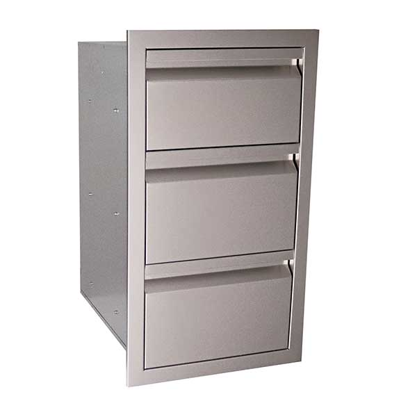 "RCS Valiant Series 17"" Stainless Steel Triple Access Drawer VTD3"