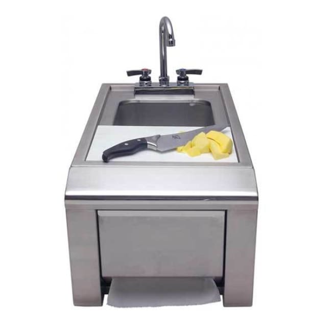 Alfresco 14 Outdoor Rated Prep & Wash Sink With Towel Dispenser Ask-T - Grill Accessory