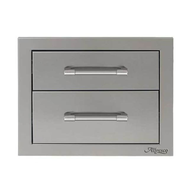 Alfresco 17 Double Access Drawer Axe-2Dr - Grill Accessory