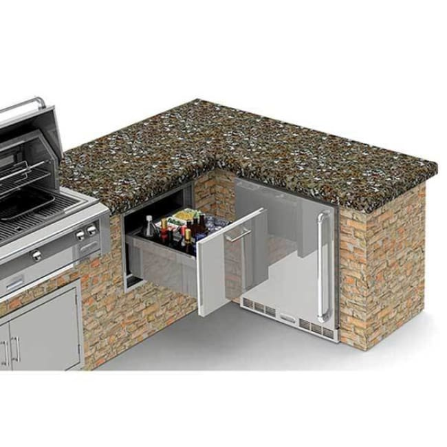 Alfresco 26 Under Counter Ice Drawer & Beverage Center Axe-Id - Grill Accessory