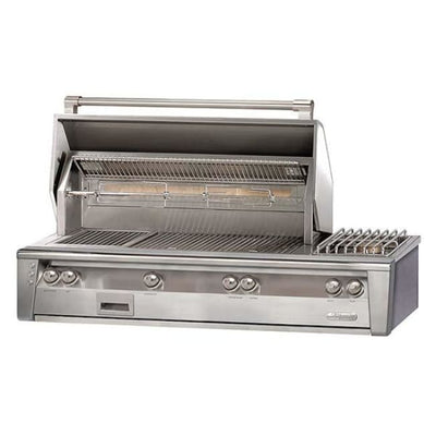 Alfresco 56 Searzone Built-In Grill With Sideburner Alxe-56Sz-Lp - Outdoor Grills