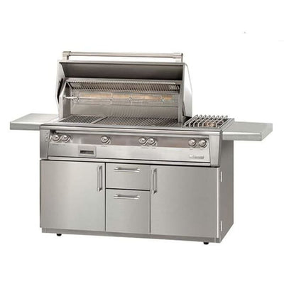 Alfresco 56 Standard Grill With Sideburner On Cart Alxe-56C-Lp - Outdoor Grills