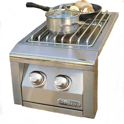 Alfresco Built-In Propane Gas Double Side Burner Axesb-2-Lp - Outdoor Grills