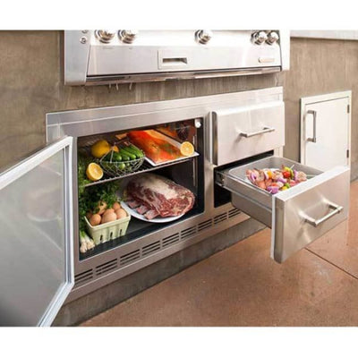 Alfresco Under Grill Outdoor Rated Refrigerator Arxe-42 - Refrigerator