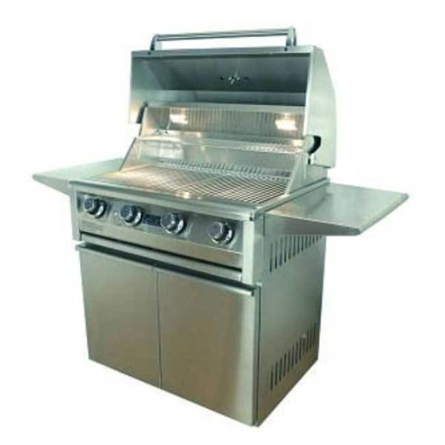 Allegra 32 Stainless Steel Grill On Cart Aht-Al32F-C-Lp - Outdoor Grills