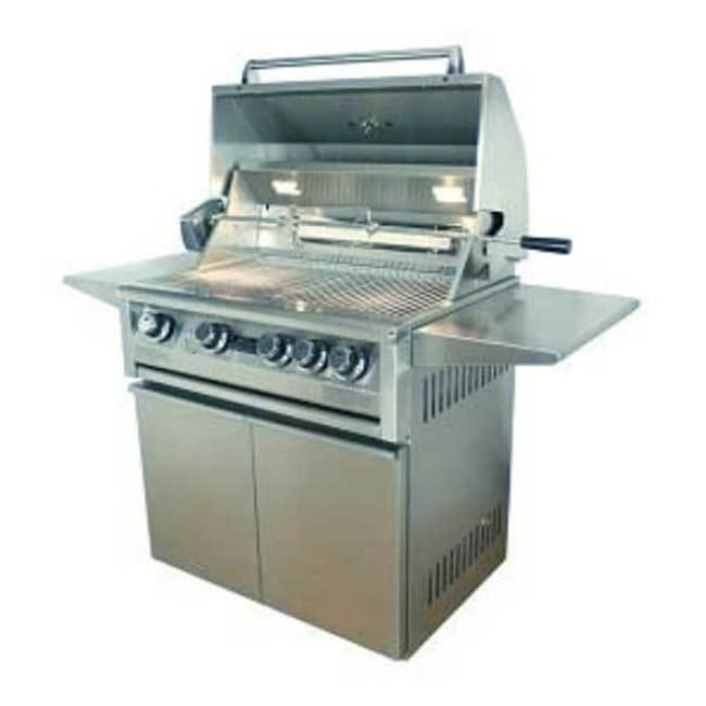 Allegra 32 Stainless Steel Grill On Cart With Rotisserie Aht-Al32Fr-C-Lp - Outdoor Grills