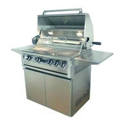 Allegra 32 Stainless Steel Grill On Cart With Rotisserie Aht-Al32Fr-C-Ng - Outdoor Grills