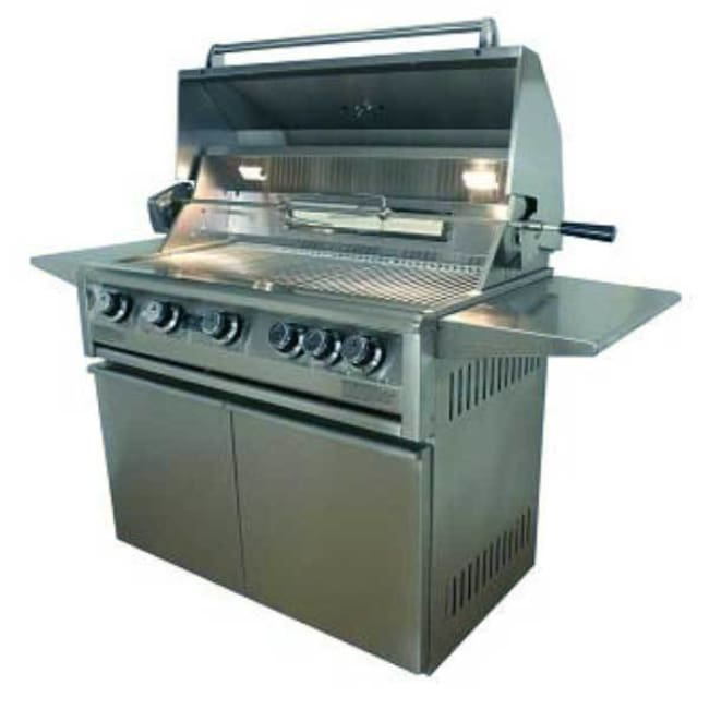 Allegra 38 Stainless Steel Grill On Cart With Rotisserie Aht-Al38Fr-T-Ng - Outdoor Grills
