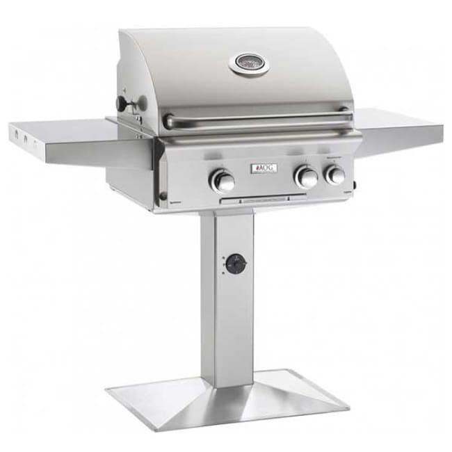 American Outdoor Grill 24 Complete Grill W/patio Post & Base 24Npl - Outdoor Grills