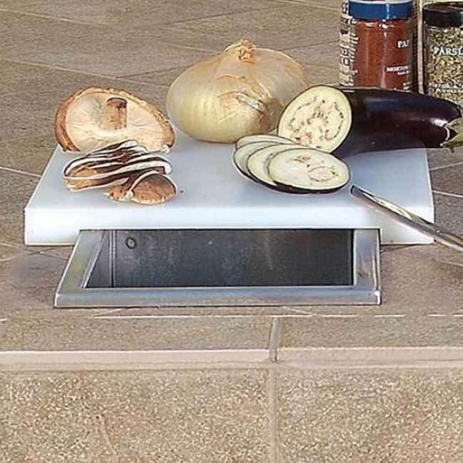 Artisan Prep & Waste Chute With Cutting Board Cover Artp-Pwc - Grill Accessory