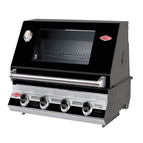 Beefeater Signatur S3000E Series - 4 Burner Bbq and window Hood with Cast Iron Cook Pack 19942