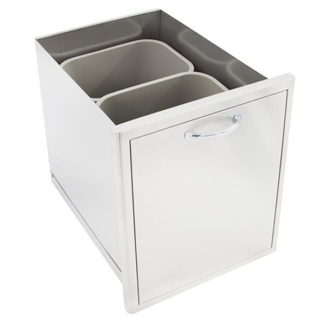Blaze 19 7/8 Roll Out Double Trash/recycle Drawer Blz-Trec-Drw - Grill Accessory