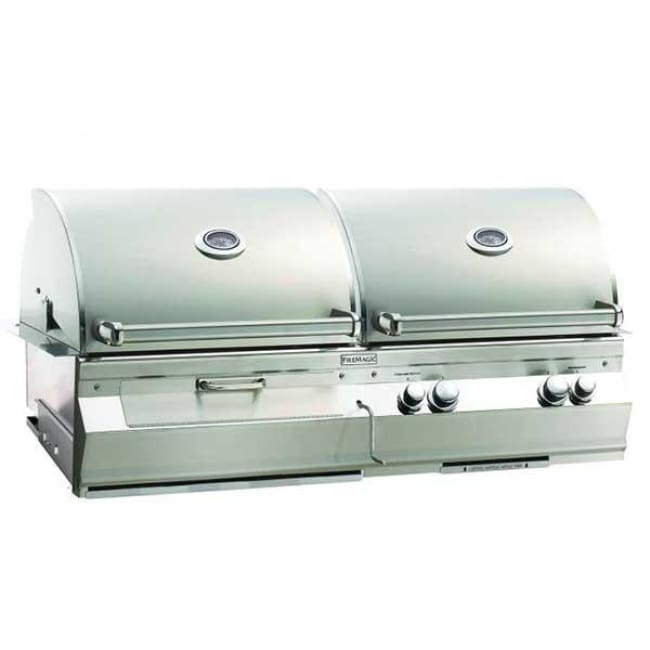 Fire Magic Aurora Gas/charcoal Combo Built-In Grill Without Rotisserie Backburner A830I-5Ean-Cb - Outdoor Grills