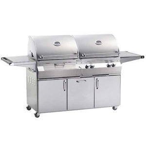 Fire Magic Aurora Gas/charcoal Combo Portable Grill With Rotisserie Backburner A830S-6Ean-61-Cb - Outdoor Grills