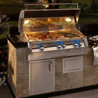 Fire Magic Echelon Diamond 36 Built-In Gas Grill W/analog Thermometer E790I-4Ean - Outdoor Grills