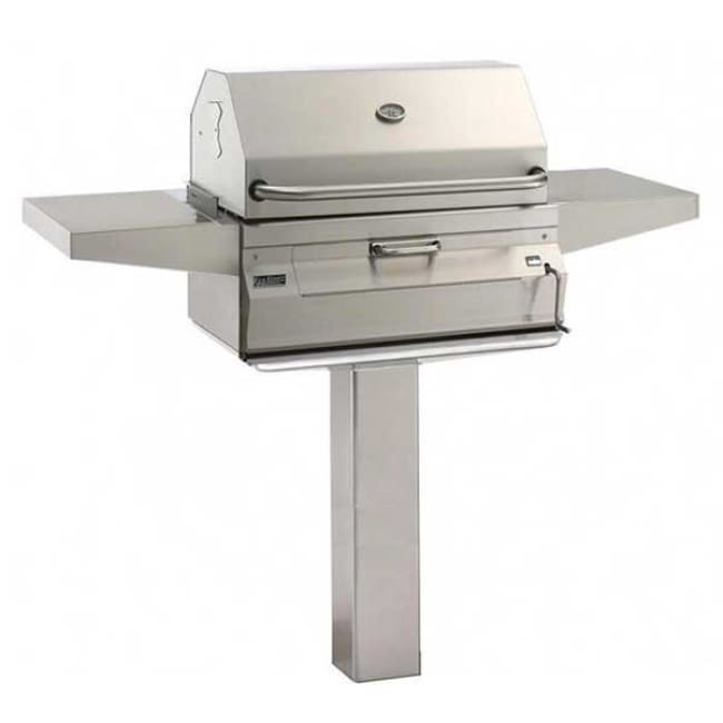 Fire Magic Legacy 24 Meat Smoker Charcoal Grill On In-Ground Post 22-Sc01C-G6 - Outdoor Grills
