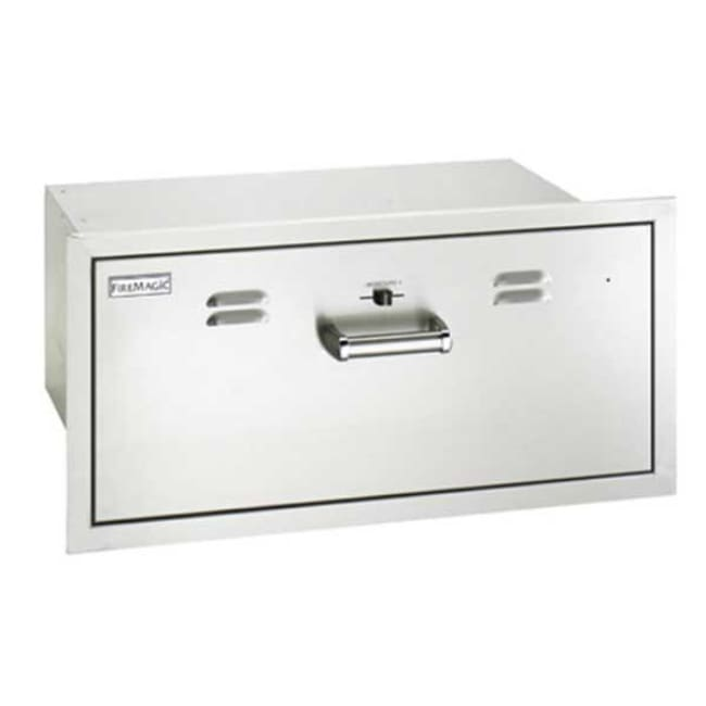 Fire Magic Premium Flush 30 Built-In 110V Electric Stainless Steel Warming Drawer 53830-Sw - Grill Accessory