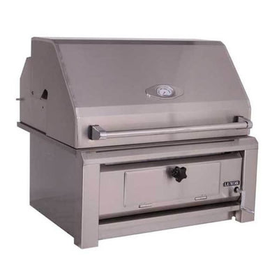 Luxor 30 Built-In Charcoal Grill With Roll Hood Aht-30-Char-Bi - Outdoor Grills