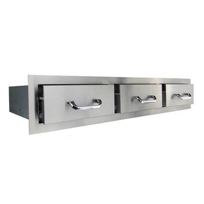 Rcs Stainless Horizontal Triple Drawer Rhr3 - Grill Accessory