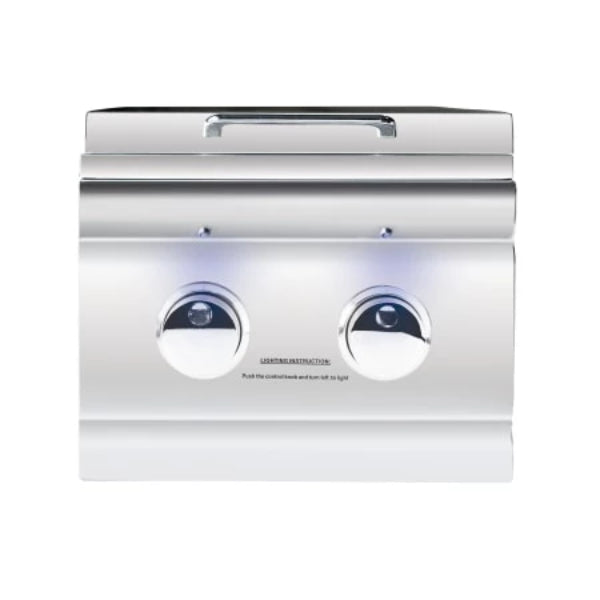 Summerset  Side Burner LP - TRL Double with LED Illumination - Built-in - TRLSB2-LP