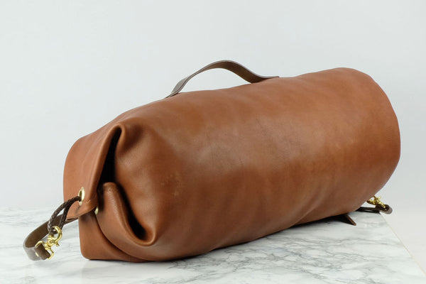 Denagy Leather Duffel Bag