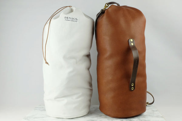 Denagy Leather Duffel Bag Interior