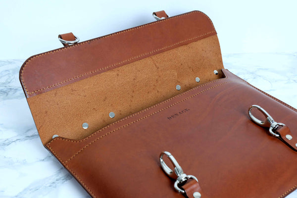 Leather Unisex Briefcase