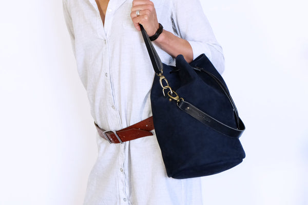 Nubuck Leather Bucket Bag