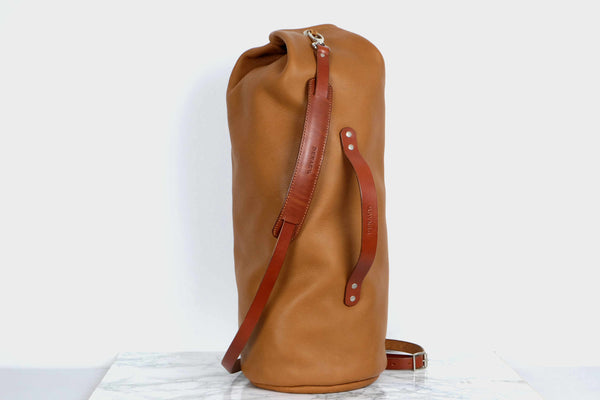 Leather Military Duffel Bag