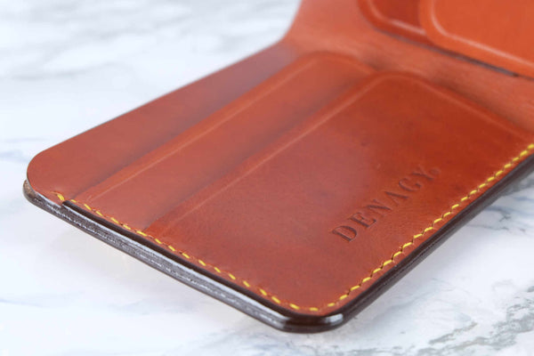 Leather Bifold with Flap Closure