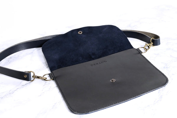 Nubuck Leather Mini Bag/Clutch