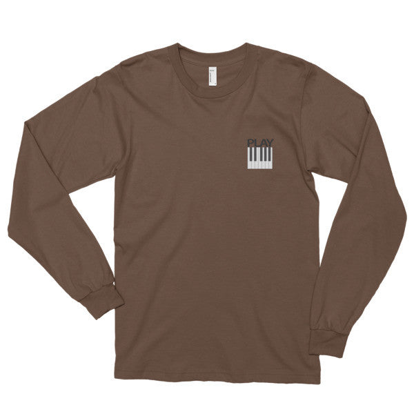 Play Piano Long Sleeve t-shirt (unisex)