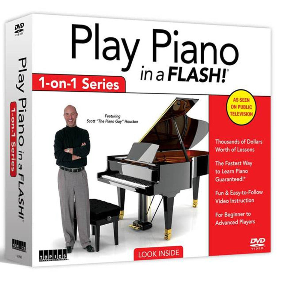 Play Piano in a Flash 1-on-1 Series 12 DVD Set