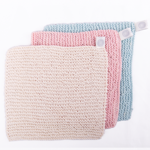 Knitted Wash Cloth - Elli_Organic - 1