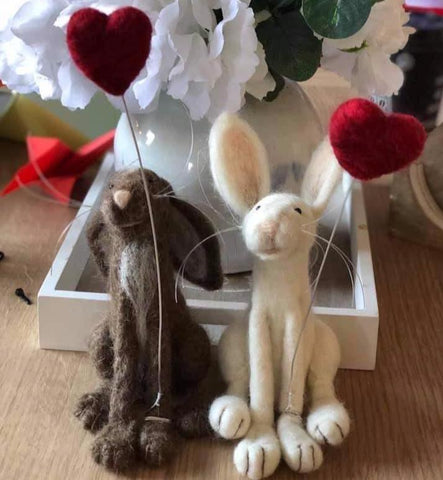 Felted Hare-Heart