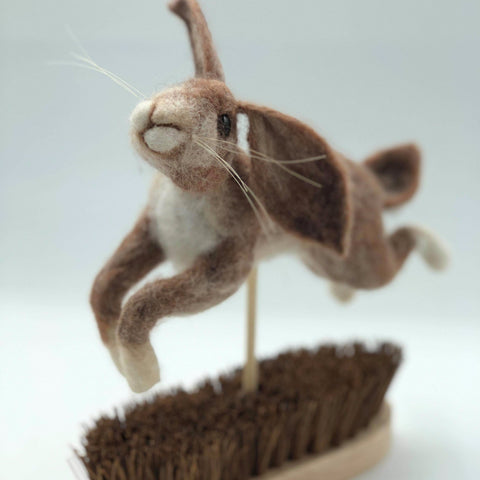 Felted Hare- Leaping