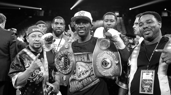 Terence Crawford Undisputed Champion with Belts after beating Indongo