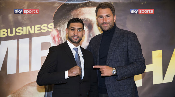 Amir Khan joins matchroom and Eddie Hearn