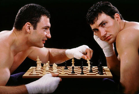 Klitschko playing Chess