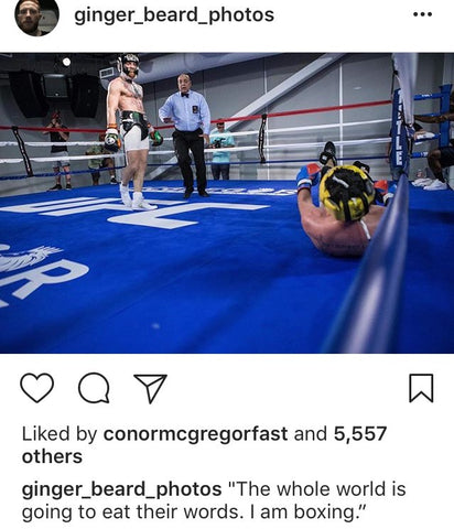 Mcgregor sparring Malignaggi floor shot