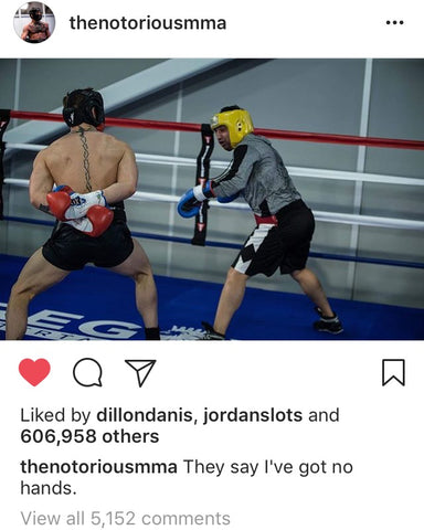 Mcgregor sparring Malignaggi hands behind back