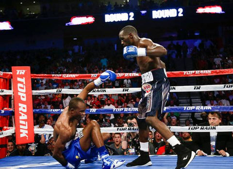 Crawford knocks down Indongo
