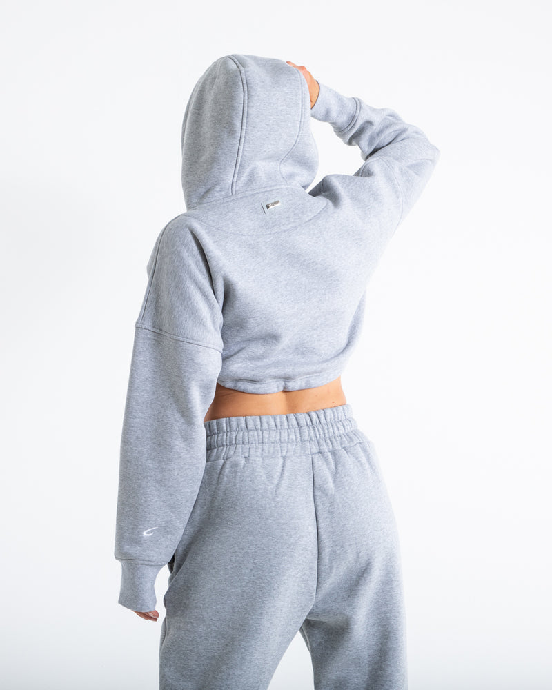 Johnson Cropped Hoodie - Grey