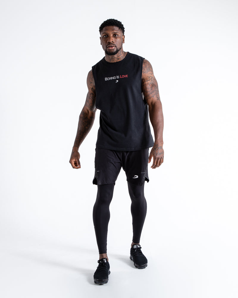 BOXRAW Boxing Is Love Tank Black